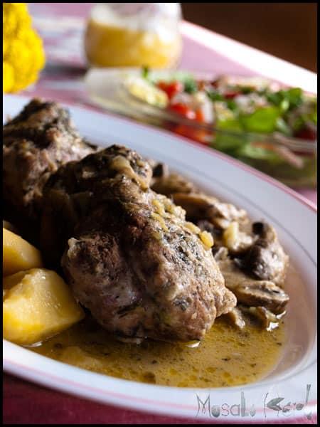 Pork Fillet with Mushrooms #stepbystep #recipe masalaherb.com