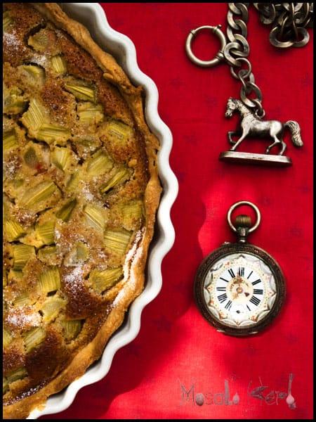 Rhubarb Tarte #stepbystep #recipe masalaherb.com